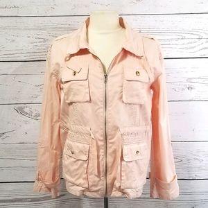 Bar III Peachy Pink Cotton Utility/Cargo Jacket M